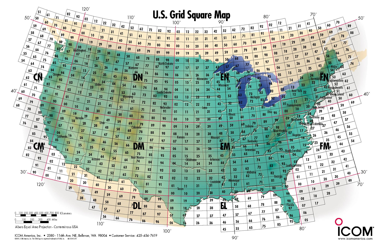 Canada Grid Square Map Ham Maps