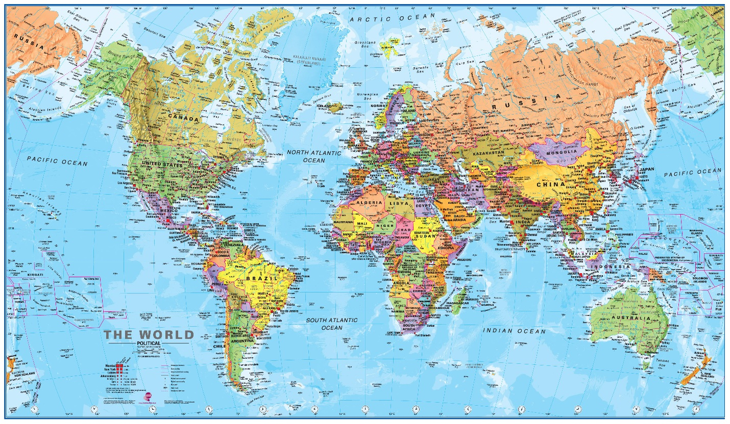 Diagram Collection World Map Outline Poster - Millions Diagram And ...